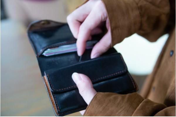 ヒジカタナオトの財布とMAMORIO